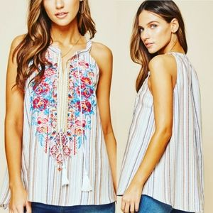 Free Love Enbroidered Blouse S M L